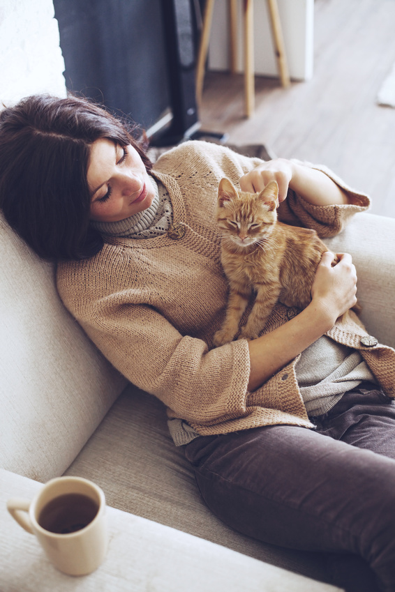 Katze Frau Tierhalter Coaching